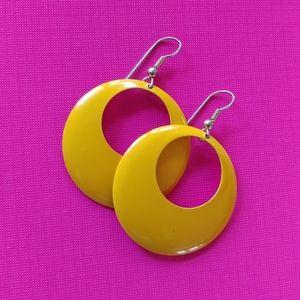 Sunshine yellow metal VTG hoops
